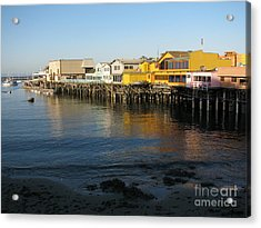 Fisherman's Wharf Acrylic Print by James B Toy