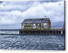 Acrylic Print featuring the photograph Fishermans Wharf Provincetown Harbor by Constantine Gregory