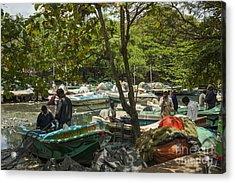 Fishermen And Their Boats Acrylic Print