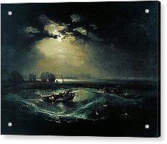 Fishermen At Sea 1796  Acrylic Print