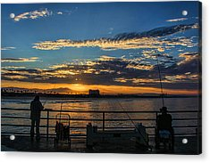 Fishermen Morning Acrylic Print by Tammy Espino
