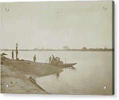 Fishermen On The Bank Of A River, Henry Pauw Van Wieldrecht Acrylic Print by Artokoloro