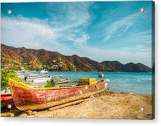Fishermen's Town Acrylic Print by Alejandro Tejada