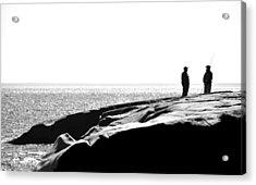 Fishers By The Sea Acrylic Print by Matthew Blum