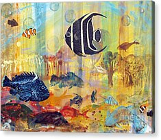 Fishes Acrylic Print by Robin Maria Pedrero