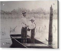 Fishin' Buddies Acrylic Print