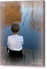 Fishin' Acrylic Print