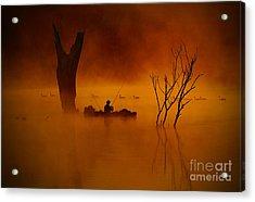 Fishing Among Nature Acrylic Print