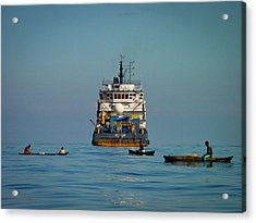 Fishing Around The Art Carlson On Anchor Acrylic Print