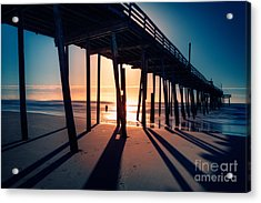 Fishing At Frisco Outer Banks Acrylic Print by Dan Carmichael