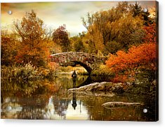 Acrylic Print featuring the photograph Fishing At Gapstow by Jessica Jenney