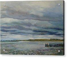 Fishing At Mcdowell Dam Acrylic Print