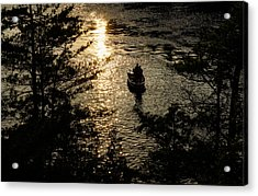 Fishing At Sunset - Thousand Islands Saint Lawrence River Acrylic Print