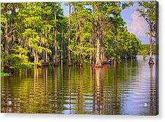 Fishing At The Bayou Acrylic Print