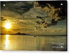 Fishing Before Dark Acrylic Print