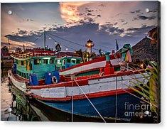 Fishing Boat Acrylic Print by Adrian Evans