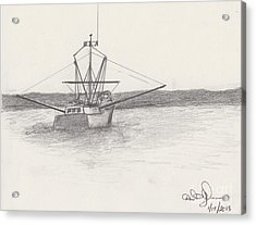 Fishing Boat Acrylic Print by David Jackson