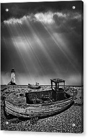 Fishing Boat Graveyard 11 Acrylic Print by Meirion Matthias