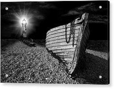 Fishing Boat Graveyard 5 Acrylic Print by Meirion Matthias