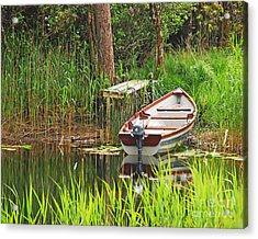 Fishing Boat Acrylic Print by Mary Carol Story