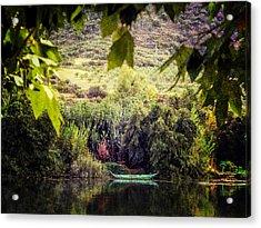 Fishing Boat On The River Douro Acrylic Print by Lynn Bolt