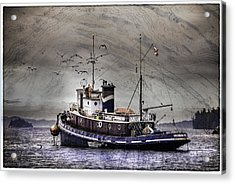Acrylic Print featuring the mixed media Fishing Boat by Peter v Quenter
