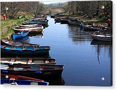 Fishing Boat Row Acrylic Print by Aidan Moran
