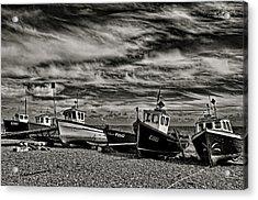 Fishing Boats At Beer Acrylic Print by Pete Hemington