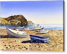 Fishing Boats At Las Negras Acrylic Print by Margaret Merry