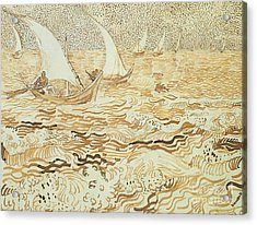 Fishing Boats At Saintes Maries De La Mer Acrylic Print by Vincent van Gogh