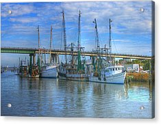 Fishing Boats At The Dock Acrylic Print