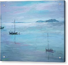 Fishing Boats Acrylic Print by Dorothy Herron