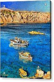 Fishing Boats Acrylic Print by George Rossidis