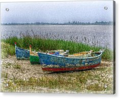 Acrylic Print featuring the photograph Fishing Boats by Hanny Heim