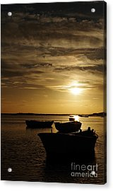Fishing Boats In Cacela Velha Acrylic Print