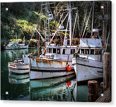 Fishing Boats In Fort Bragg Acrylic Print