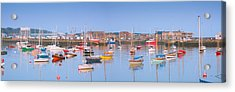 Fishing Boats In The Howth Marina Acrylic Print by Semmick Photo