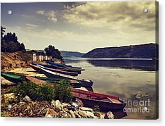 Fishing Boats  Acrylic Print by Jelena Jovanovic