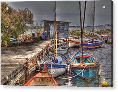 Acrylic Print featuring the photograph Fishing Boats by Rod Jones