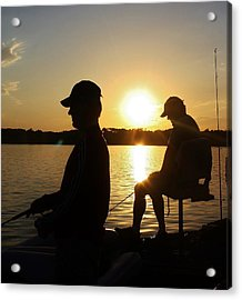 Fishing Buddies Acrylic Print by Bruce Bley