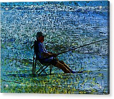 Fishing Acrylic Print by Claire Bull