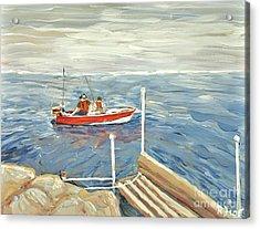 Fishing Day On Georgian Bay Acrylic Print