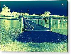 Fishing Dock Acrylic Print by Mickey Harkins