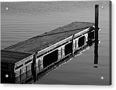 Fishing Dock Acrylic Print by Frozen in Time Fine Art Photography