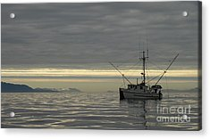 Acrylic Print featuring the photograph Fishing In Alaska by Laura  Wong-Rose
