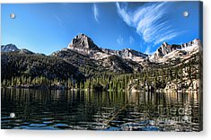Fishing In Lake Sabrina Acrylic Print