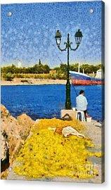 Fishing In Spetses Island Acrylic Print by George Atsametakis