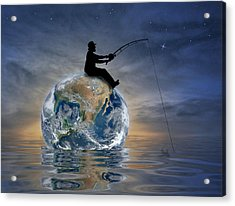 Fishing Is My World Acrylic Print