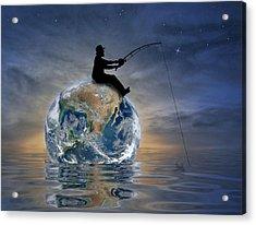 Fishing Is My World Acrylic Print