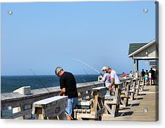 Fishing Is Serious Business Acrylic Print by Carolyn Ricks